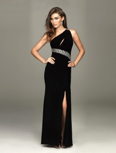 2012-Funky-Column-Beads-One-Strap-Empire-Prom