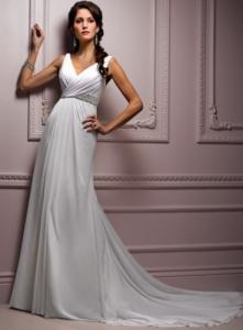 2013-2012-model-beyaz-dekolteli-belden-oturtmalı-şık-şifon-elbise