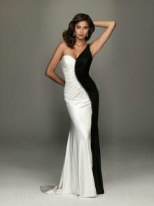 Black-white-Evening-Dress